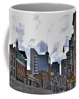 Coffee Mug featuring the photograph 10dec16 02 Buffalo Theatre District  by Michael Frank Jr