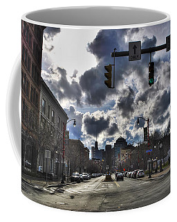 Coffee Mug featuring the photograph 10dec16 Pearl And Main Street by Michael Frank Jr