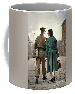 1940s Couple Coffee Mug by Lee Avison