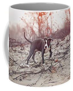 Coffee Mug featuring the photograph American Pitbull  by Peter Lakomy