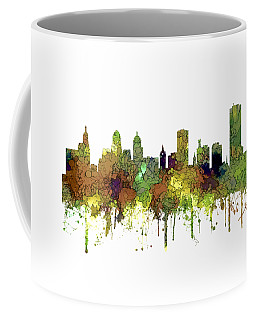 Buffalo New York Skyline Coffee Mug by Marlene Watson