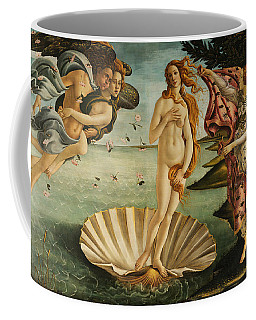 Coffee Mug featuring the painting The Birth Of Venus by Sandro Botticelli