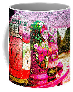 Russian Matrushka Dolls Wall Art Coffee Mug