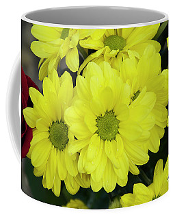Coffee Mug featuring the photograph Yellow Flowers by Elvira Ladocki