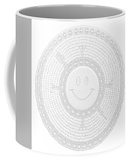 110-happy Face 0115 Wampum White Coffee Mug