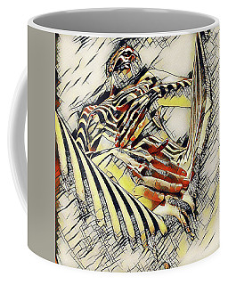 1177s-ak Abstract Nude Her Fingers On Pubis Erotica In The Style Of Kandinsky Coffee Mug by Chris Maher