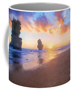 12 Apostles With Marshmallow Skies    Og Coffee Mug