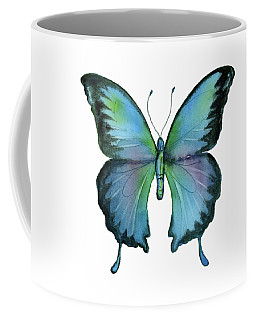 12 Blue Emperor Butterfly Coffee Mug