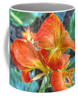 Coffee Mug featuring the pyrography Flower by Yury Bashkin