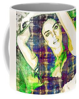Coffee Mug featuring the mixed media Irina Shayk by Svelby Art