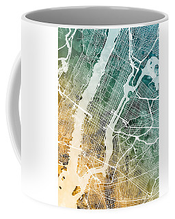 New York City Street Map Coffee Mug