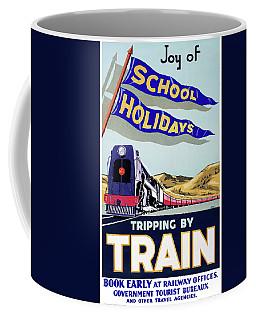 New Zealand Vintage Travel Poster Restored  Coffee Mug