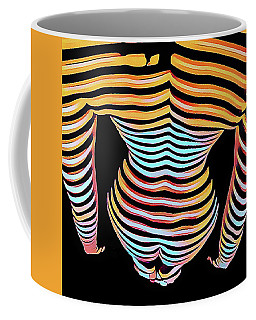 1262s-mak Woman's Strong Shoulders Back Hips Rendered In Composition Style Coffee Mug