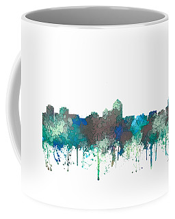 Albuquerque New Mexico Skyline Coffee Mug by Marlene Watson