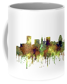 Baltimore Maryland Skyline Coffee Mug by Marlene Watson