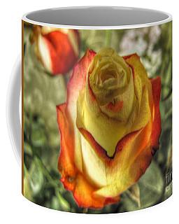 Coffee Mug featuring the pyrography Rose by Yury Bashkin