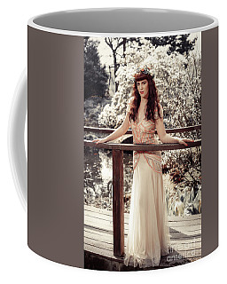 Woman In Spring Blossom Coffee Mug