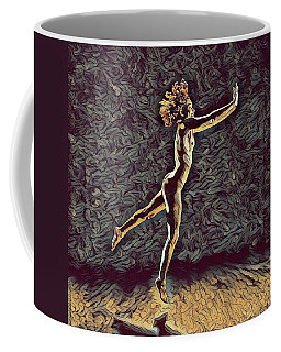 1302s-zak Naked Dancers Leap Nudes In The Style Of Antonio Bravo Coffee Mug by Chris Maher