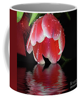 Coffee Mug featuring the photograph Red Tulip by Elvira Ladocki