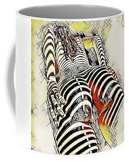 1457s-ak Rear View Nude Erotica In The Style Of Kandinsky Coffee Mug by Chris Maher