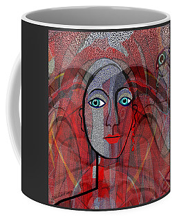 1459 Cubic Lady Face Coffee Mug by Irmgard Schoendorf Welch