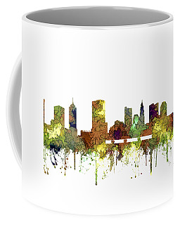 Columbus Ohio Skyline Coffee Mug by Marlene Watson