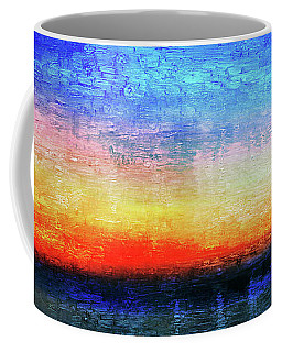 15a Abstract Seascape Sunrise Painting Digital Coffee Mug
