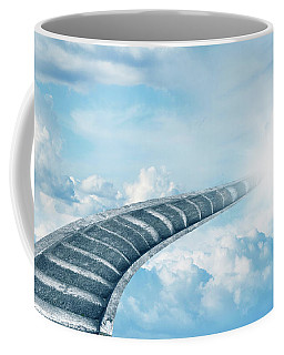 Coffee Mug featuring the digital art Stairway To Heaven by Les Cunliffe