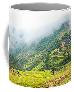 Terrace Fields Scenery In Autumn Coffee Mug