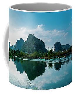 The Karst Mountains And River Scenery Coffee Mug