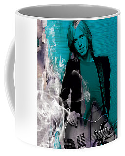 Coffee Mug featuring the mixed media Tom Petty Collection by Marvin Blaine