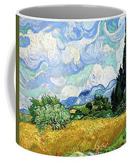 Wheat Field With Cypresses Coffee Mug