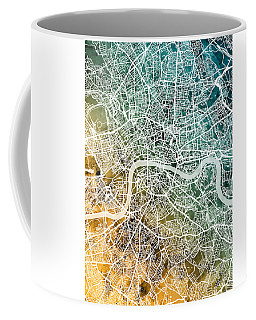 London England Street Map Coffee Mug