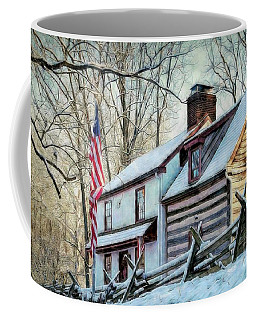 1700's Log House In West Chester, Pa Coffee Mug