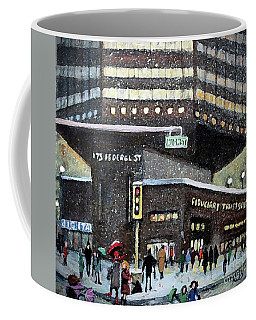 Coffee Mug featuring the painting 175 Federal Street by Rita Brown