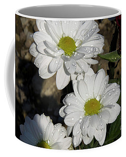 Coffee Mug featuring the photograph White Flowers by Elvira Ladocki
