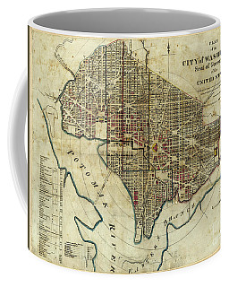 1822 Map Of Washington Dc Coffee Mug