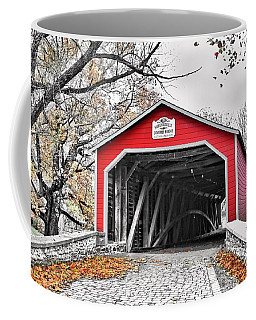Coffee Mug featuring the photograph 1839 Kreidersville Bridge by DJ Florek