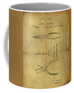 1848 Dental Forceps Patent Coffee Mug by Dan Sproul