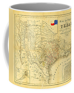 1849 Texas Map Coffee Mug by Bill Cannon