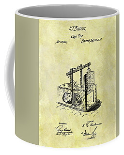 Coffee Mug featuring the mixed media 1870 Mousetrap Patent by Dan Sproul
