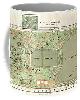 1870 Vaux And Olmstead Map Of Central Park New York City Coffee Mug