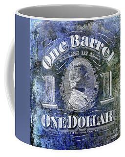 1878 Beer Barrel Tax Stamp Blue Coffee Mug