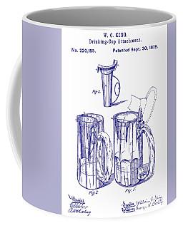 Beer mug coffee mugs fine art america 1879 beer mug patent blueprint coffee mug malvernweather Gallery