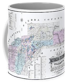 1880 Nevada County Mining Claim Map Coffee Mug