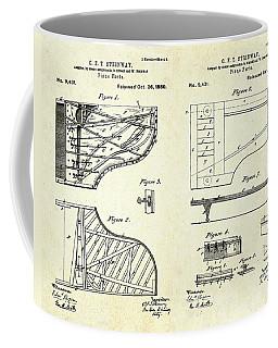 1880 Steinway Piano Forte Patent Art Sheets V2 Coffee Mug