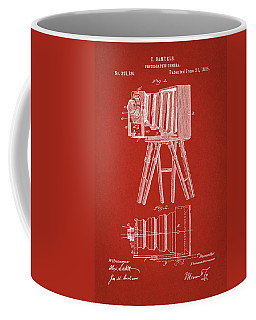 1885 Camera Us Patent Invention Drawing - Red Coffee Mug