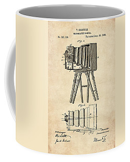 1885 Camera Us Patent Invention Drawing - Vintage Tan Coffee Mug