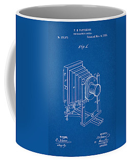 1888 Camera Us Patent Invention Drawing - Blueprint Coffee Mug