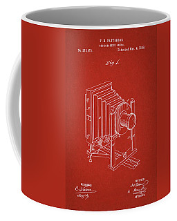 1888 Camera Us Patent Invention Drawing - Red Coffee Mug